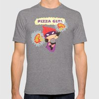 Pizzagirl Mens Fitted Tee Tri-Grey SMALL