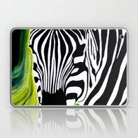 Green Black and White Zebra Laptop & iPad Skin