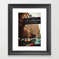 New York - Chelsea Marke… Framed Art Print