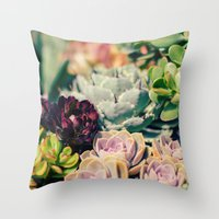 Cacti And Succulents I Throw Pillow