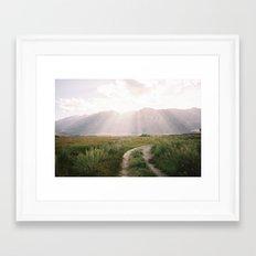 The Sierras off 395 is North-Eastern, Ca  Framed Art Print