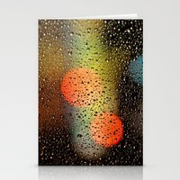 Rain Drops And Color Pop… Stationery Cards