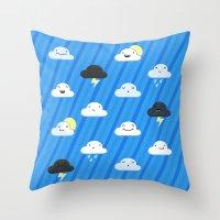 Forecast Feelings Throw Pillow