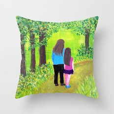 Along the Way Throw Pillow