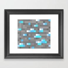 Mined Diamond Block Everything Framed Art Print