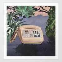 Late Nite Phone Talks Art Print