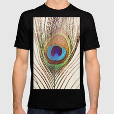 Peacock SMALL Mens Fitted Tee Black