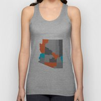 Arizona State Map Print Unisex Tank Top