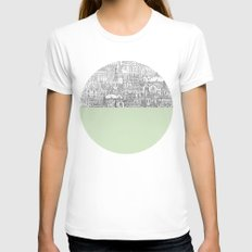 Circle Womens Fitted Tee White SMALL