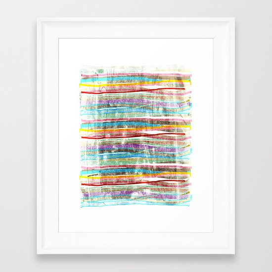 fancy stripes 3 Framed Art Print