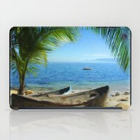Boats at Las Caletas iPad Case
