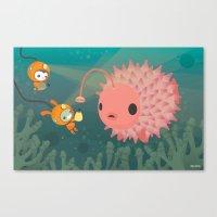 The Octonauts Pufferfish Canvas Print