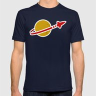 Blue Spaceman Mens Fitted Tee Navy MEDIUM