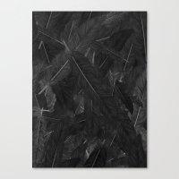Canvas Print featuring Feathered (Black). by Matt Leyen