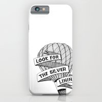 iPhone & iPod Case featuring Look for the silver lining by kate gabrielle