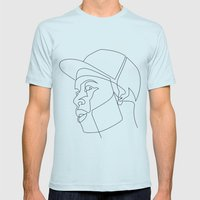 Dillalines Mens Fitted Tee Light Blue SMALL