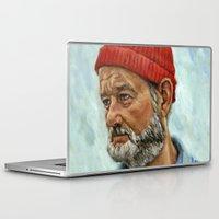 bill murray Laptop & iPad Skins featuring Bill Murray / Steve Zissou by Heather Buchanan
