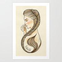 Fishtailed Art Print