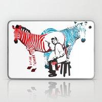 Zebra Painter Print Laptop & iPad Skin