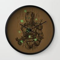 Wooden Man Wall Clock