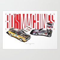 80's Machines Art Print