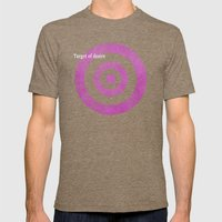Target of desire - pink Mens Fitted Tee Tri-Coffee SMALL