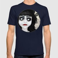 Dear little doll series... EUGENIA Mens Fitted Tee Navy SMALL