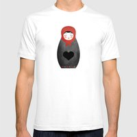 Matryoshka Paperdoll Hea… Mens Fitted Tee White SMALL
