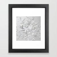 Elegant White Framed Art Print