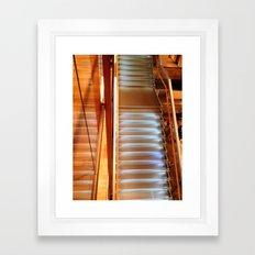 Lighting stairs Framed Art Print