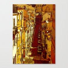 travessa da portuguesa Canvas Print