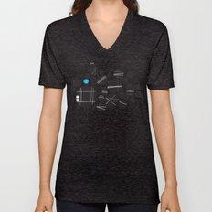robot Unisex V-Neck