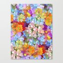 Rainbow Flower Shower Canvas Print