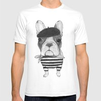 French Bulldog. (black A… Mens Fitted Tee White SMALL