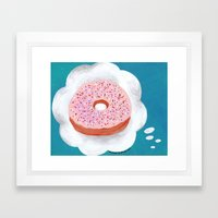 Kitchen Dream Donut Framed Art Print