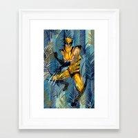 Wolverine Japan Forest Framed Art Print