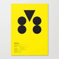 Dortmund geometric logo Canvas Print