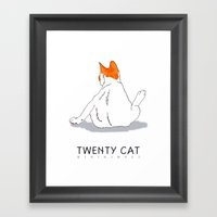 back cat Framed Art Print