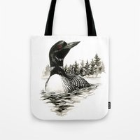 North Shore Loon Tote Bag