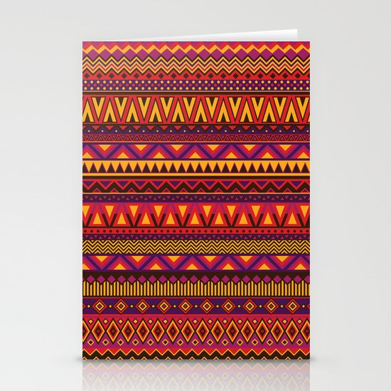 Aztec Pattern 2 Stationery Card