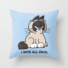 Always Grumpy Throw Pillow