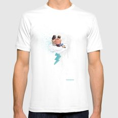 N.LOVE Mens Fitted Tee White SMALL