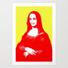 Monalisa Jolie Art Print