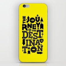 Yellow Journey Quote iPhone & iPod Skin