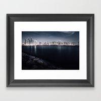 Dubai Night Framed Art Print