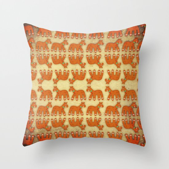 Gingerbread Decorative Pillows : Gingerbread Unicorn Throw Pillow by That s So Unicorny Society6