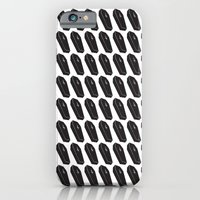 iPhone & iPod Case featuring Black Coffins by The Drawing Beard