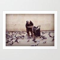 Human greatness Art Print