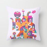 Schema 6 Throw Pillow