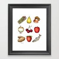 Some Food Framed Art Print